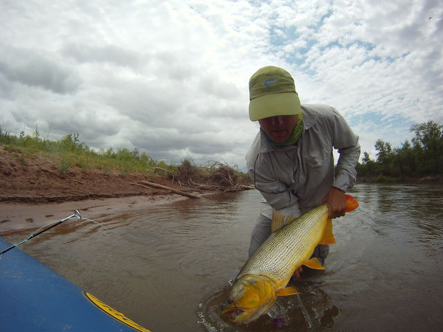 Argentine Dorado Fly Fishing Water Master Boat