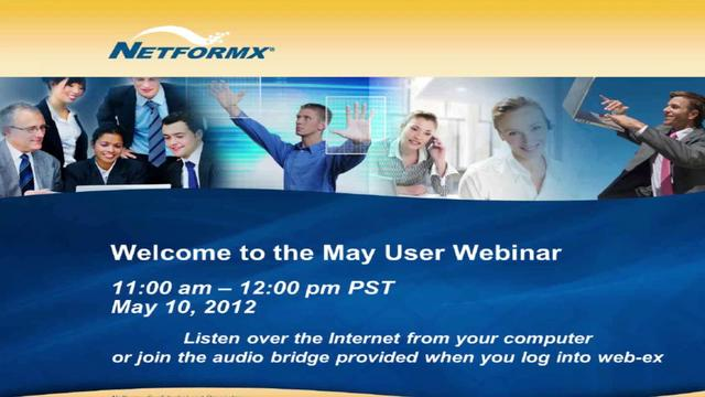 May 2012 User Webinar