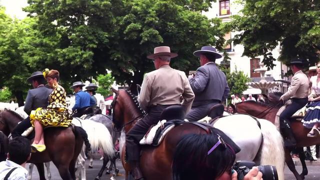 <p> Initiation of Pilgrimage of Virgen del Rocio en Huelva 2012</p>