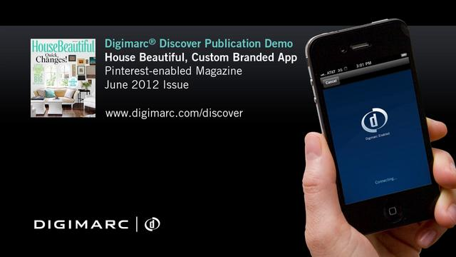 Pinterest-enabled Publication, House Beautiful - Digimarc® Discover Example