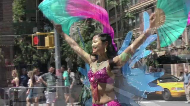 A Minute of Parading Dancers in New York City- United We Dance...