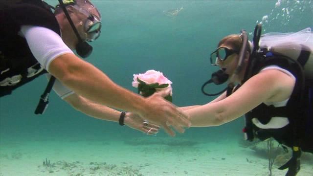 Mary and Jim's Underwater Wedding - Grand Bahama Island, The Bahamas - May 16
