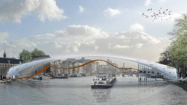 Amsterdam hermitage bridge design on vimeo for Design bridge amsterdam