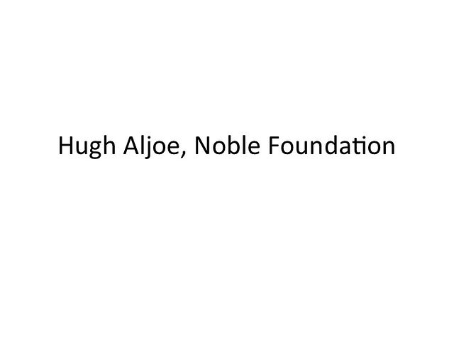 Hugh Aljoe - Noble Foundation
