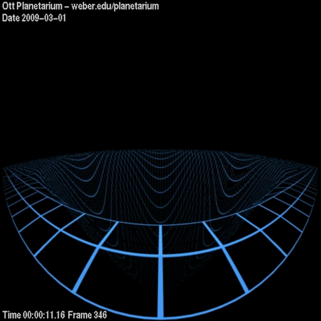 Spacetime Distortion Near a Black Hole