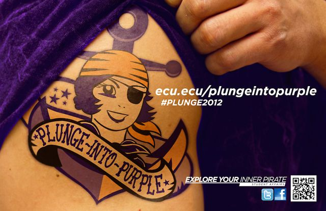 ECU Plunge into Purple Promo 2012