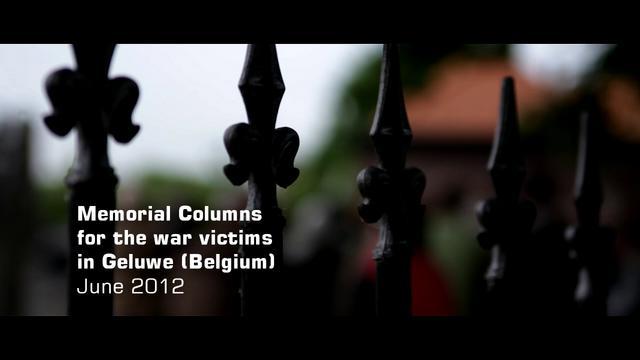 Onthulling van het herdenkingspark voor de oorlogsslachtoffers van Geluwe (kort en widescreen)