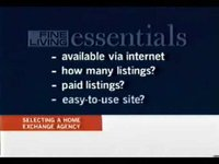 Fine Living Channel - Selecting a Home Exchange Agency