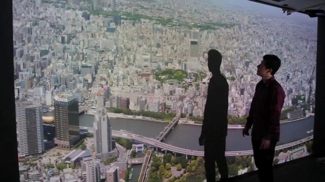 SKYTREE VIEW ソラマド with a 4K projector