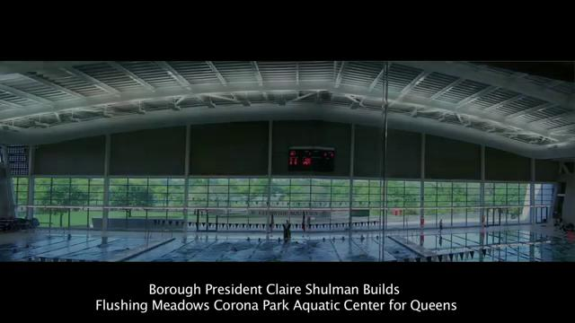 Claire shulman builds the flushing meadows corona park aquatic center on vimeo for Flushing meadows swimming pool