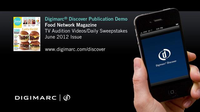 Food Network Magazine - Digimarc&reg; Discover Example