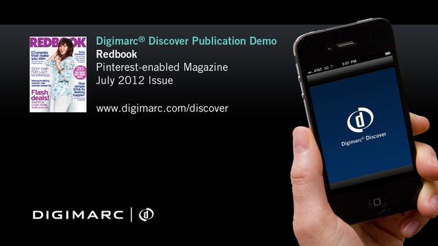 Pinterest-enabled Publication, Redbook - Digimarc® Discover Example