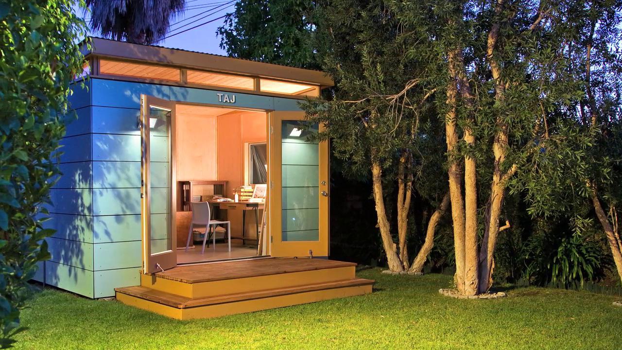 Modern Backyard Studio : ModernShed? TAJ the 10×12 backyard art studio on Vimeo