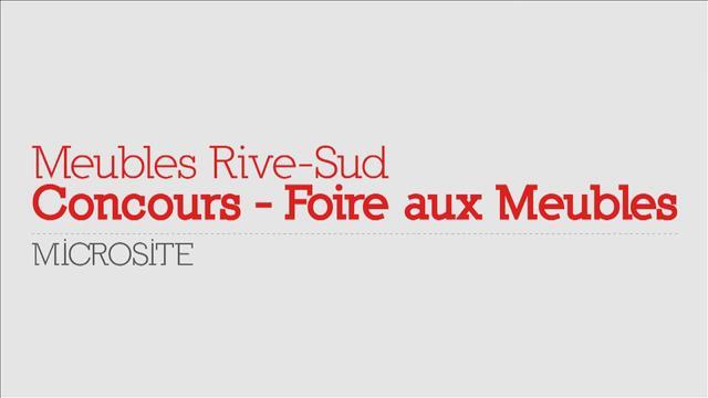 Meubles rive sud concours foire aux meubles on vimeo for Entrepot meuble rive sud