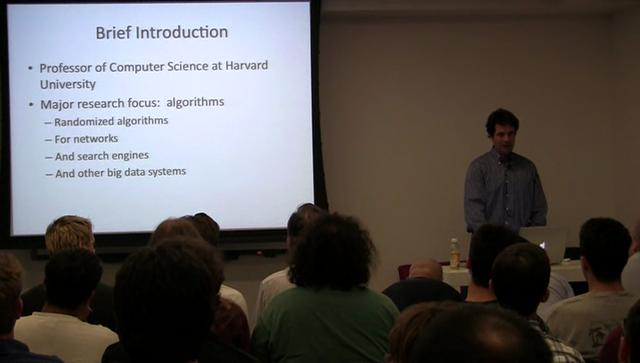 Michael Mitzenmacher - Detecting Novel Associations in Large Data Sets