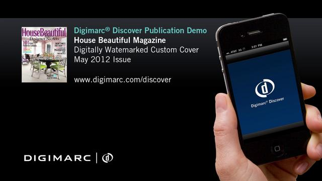 House Beautiful, Custom Cover - Digimarc Discover Example