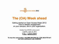 2012 OA Week Kick Off Webcast