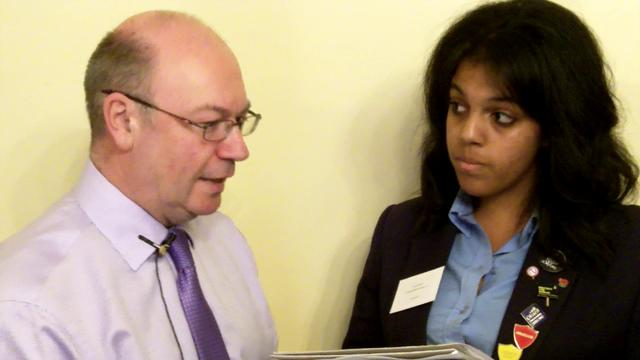 Jade from Paddington Academy interviews Minister Alistair Burt