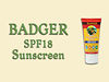 Badger SPF18 Sunscreen - Lightly Scented