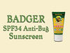 Badger SPF34 Anti-Bug Sunscreen