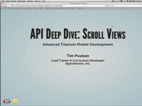 API Deep Dive: Scrolling Views