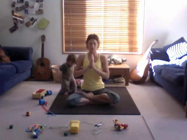 Meditating with a toddler