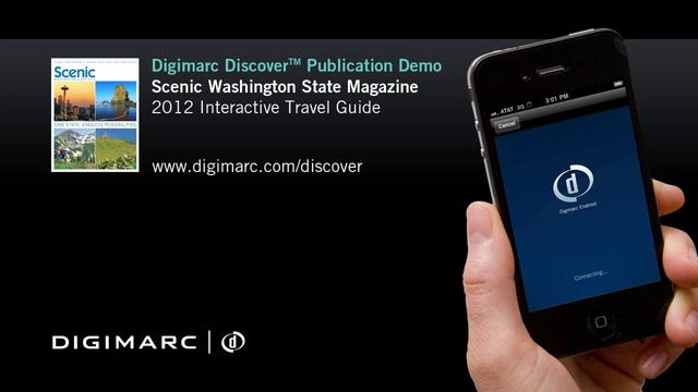 Scenic Washington State Magazine - Digimarc Discover Example
