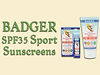 Badger SPF35 Sport Sunscreen and Face Stick