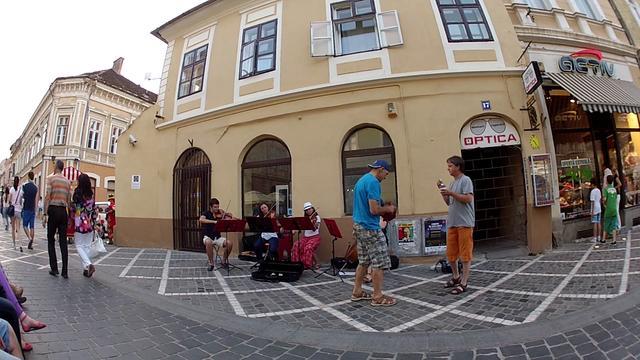 Cvartet pe strada Republicii din Brasov
