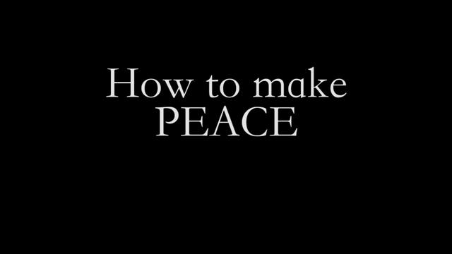 how to make peace