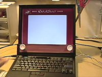 DIY Laptop Etch-A-Sketch Is Almost Worth Destroying A Hard Drive
