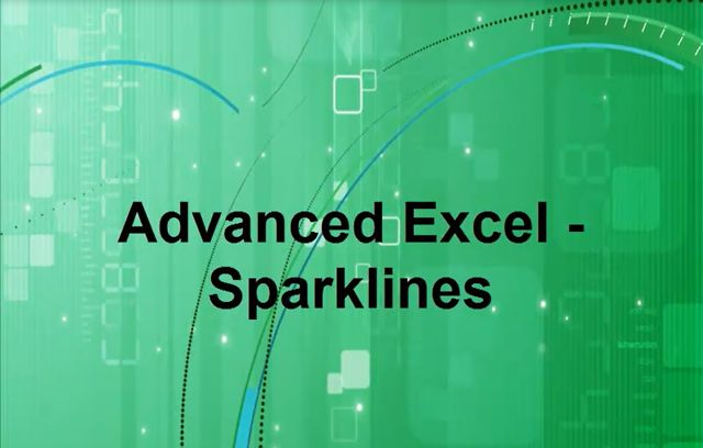 Advanced Excel - Sparklines