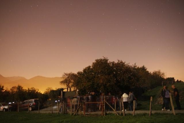 Astronomia behaketa-Observación Astronómica Oñatiko Txantxiku Ikastola 2009-10-29