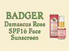 Badger SPF16 Damascus Rose Face Sunscreen Lotion