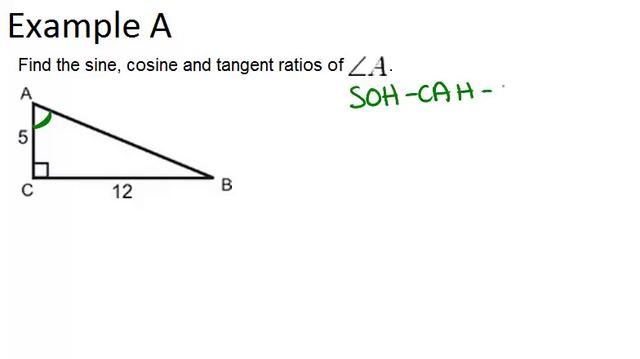 how to find sine cosine and tangent