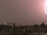 Thunderstorm over Port Angeles, Wash., July 13, 2012
