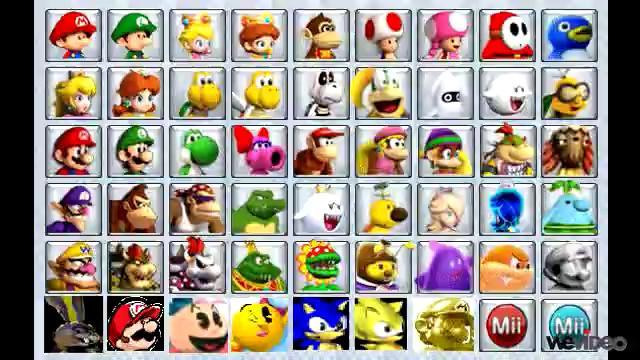 Mario Kart 8 Wii U Character Select