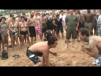 Foreigners Wrestling at the Boryeong Mud Festival (보령머드축제), Daecheon Beach, Korea
