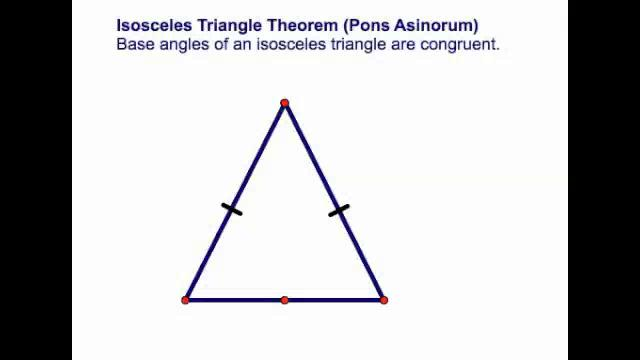 The gallery for --> Isosceles Triangle Theorem Examples