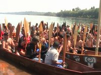 Canoe Journey paddlers arrive in Port Angeles.