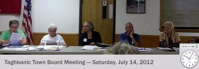 July 14, 2012: Taghkanic Town Board Meetingtaghkanic town