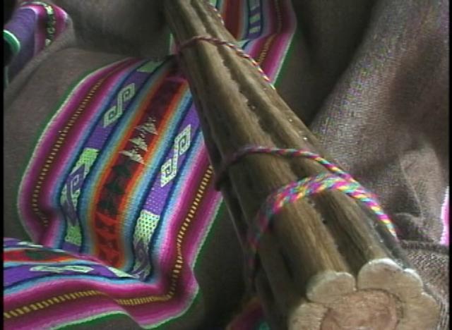 El palo de agua es un instrumento musical y de ruido hecho con cactus y sus espinas.