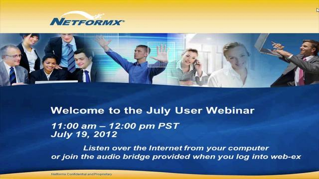 July 2012 User Webinar