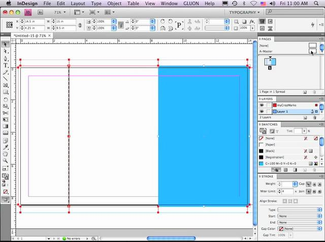indesign how to add crop marks