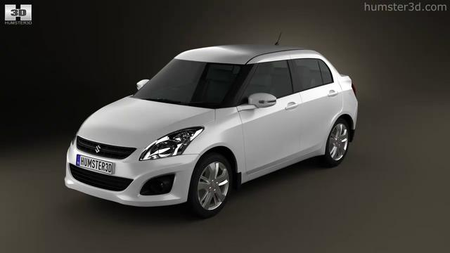 Suzuki (Maruti) Swift Dzire sedan 2012 by 3D model store Humster3D.com