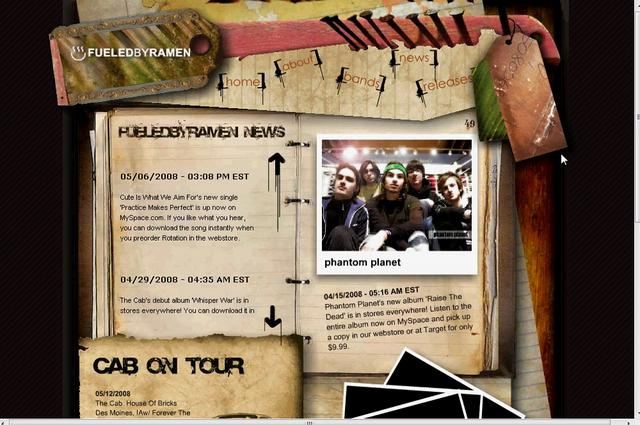 Fueled By Ramen Website