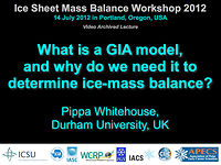 What is a GIA model, and why do we need it to determine ice-mass balance?