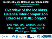 Overview of the Ice Mass Balance Inter-comparison Exercise