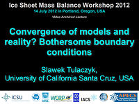 Convergence of models and reality? Bothersome boundary conditions