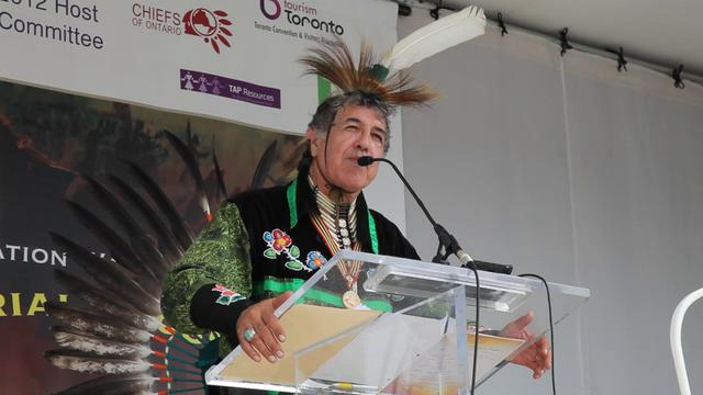 Elder Gary Sault of the Mississaugas of New Credit